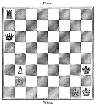 Fig. 13.[Black to Move and Draw.]