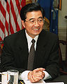 Hu Jintao during a defense meeting held at the Pentagon, May 2002, cropped.jpg