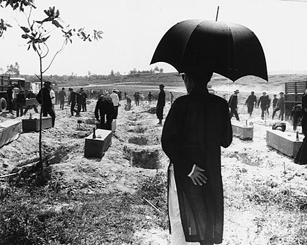 Interment of victims of the Hue Massacre Hue Massacre Interment.jpg