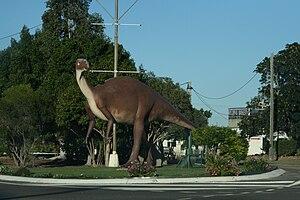 Hughenden, Queensland - Hughenden's dinosaur statue