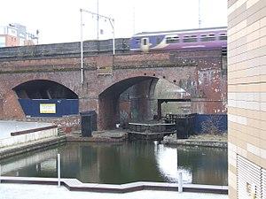 Hulme Locks Branch Canal - The Hulme Locks at the Bridgewater Canal end