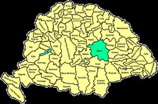 Bihar County county of the Kingdom of Hungary