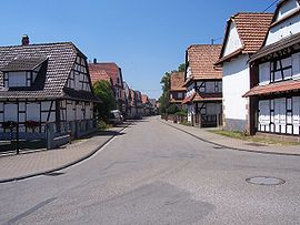 Street in Hunspach
