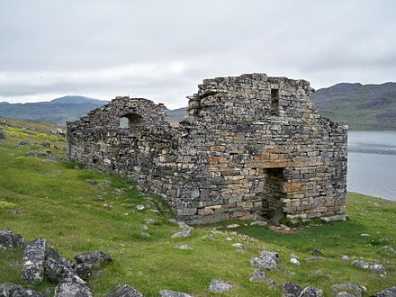 The last written records of the Norse Greenlanders are from a 1408 marriage in the Church of Hvalsey. Hvalsey Church.jpg