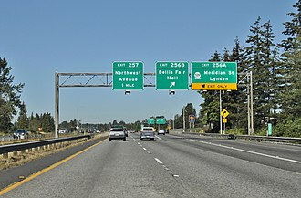 Washington State Route 539 - The southern terminus of SR 539, at an interchange with I-5 in Bellingham