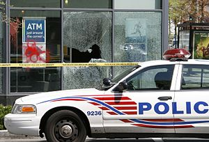 World Bank Group - World Bank/IMF protesters smashed the windows of this PNC Bank branch located in the Logan Circle neighborhood of Washington, D.C.