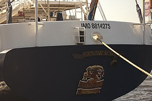 "IMO number - ""IMO 8814275"" on Eendracht"