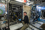 ISS-44 Kjell Lindgren works in the Destiny module.jpg
