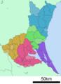 Ibaraki prefecture administrative division map.png