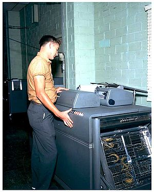 IBM 407 - A 407 at U.S. Army's Redstone Arsenal in 1961.