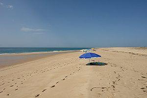 Cabo de Santa Maria (Faro) - Beach in the southernmost point of mainland Portugal, Barreta Island (Santa Maria cape)