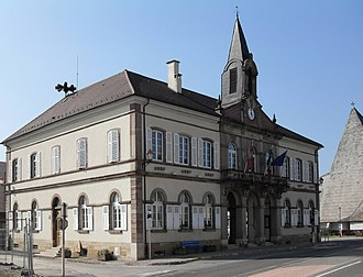 Illfurth - The town hall in Illfurth