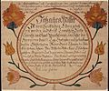 Illustrated family record (Fraktur) found in Revolutionary War Pension and Bounty-Land-Warrant Application File... - NARA - 300232.jpg