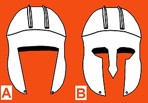 Illyrian type helmet - Image: Illyrian and Corinthian