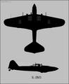 Ilyushin Il-2M3 two-view silhouette.png