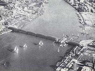 Imbaba - An old photo of the Imbaba bridge