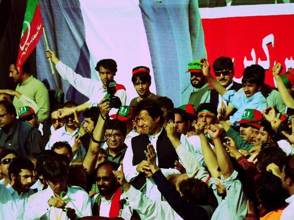 Imran Khan PTI Chairman in Abbottabad