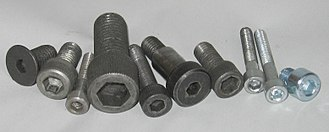 Hex key - Socket head screws of various sizes