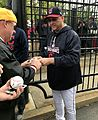 Indians skipper Terry Francona signs for fans before -WorldSeries Game 1. (30266043100).jpg