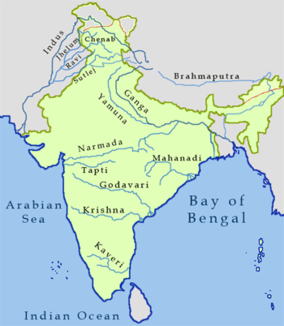 Course of the Tapti