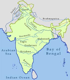 Lage des Krishna in Indien