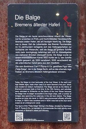 Spitzen Gebel - Image: Infotafel Die Balge
