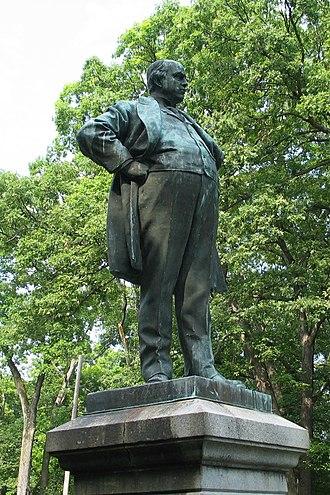 Robert G. Ingersoll - Ingersoll statue in Peoria, Illinois.