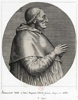 Pope Innocent VIII - Image: Innocent VIII 1492