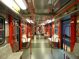 Milan Metro - Inside a line M1 train