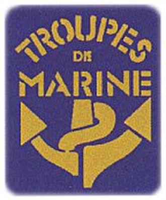 Troupes de marine - Image: Insigne des troupes de marine