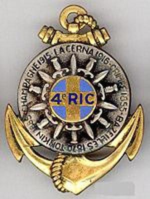 4th Marine Infantry Regiment - Image: Insigne régimentaire du 4e R.I.C