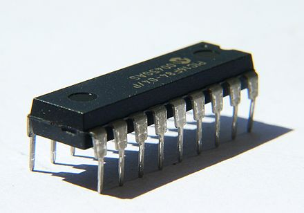 Components like integrated circuits can have upwards of dozens of leads, or pins Integrated Circuit.jpg