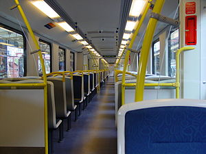 Siemens Modular Metro - Interior of the Melbourne Mo.Mo