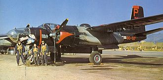 "Douglas A-26 Invader - B-26B-61-DL, AF Ser. No. 44-34517 ""Monie"" of the 37th BS, 17th BG flown by 1st Lt Robert Mikesh, Pusan AB, Korea 1952"