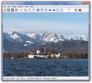 IrfanView version 4.33 showing a photo of Schloss Ort
