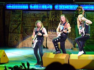 Somewhere Back in Time World Tour - Adrian Smith, Dave Murray and Janick Gers performing in Irvine.