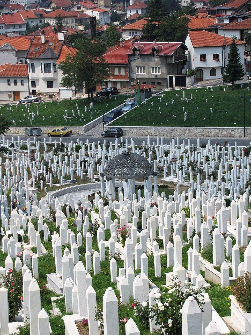 Islamic cemetery in Sarajevo