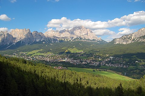 Dolomite Mountains from Venice