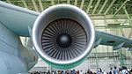 JASDF C-2(68-1203) CF6-80C2K1F turbofan engine(left wing) front view at Miho Air Base May 28, 2017.jpg
