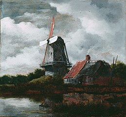 Landscape with a Farm House and Windmill