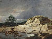 Jacob van Ruisdael - Dune Landscape with Shepherd and his Flock.jpg