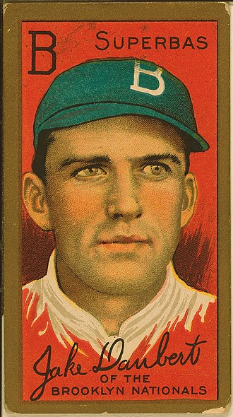 Jake Daubert - Daubert on a 1911 American Tobacco Company baseball card