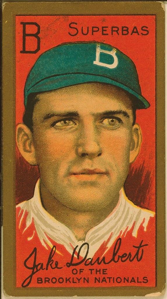 Jake Daubert Baseball Card