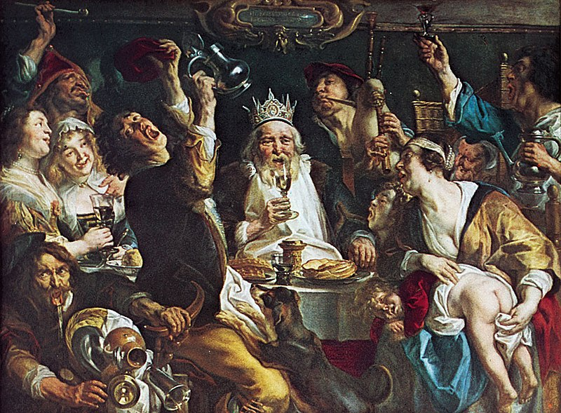 Jakob Jordaens - The King Drinks!