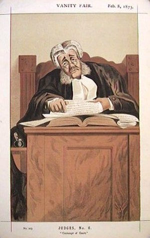 James Bacon (judge) - Vanity Fair caricature, 1873