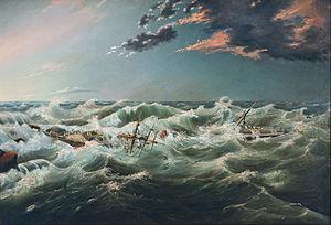 SS Admella - The wrecked Admella, by James Shaw