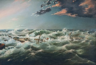 SS Admella - The wrecked Admella, by James Shaw