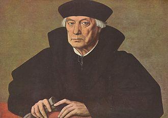 Jan Cornelisz Vermeyen - Portrait of the Marquis and Catholic Church Cardinal Mercurino Gattinara, Grand Chancellor of the Empire,  by Jan Cornelisz Vermeyen (c. 1530), on display at the Royal Museums of Fine Arts, Brussels
