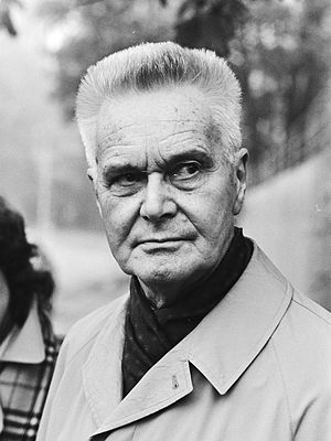 Jan Tinbergen - Jan Tinbergen in 1982