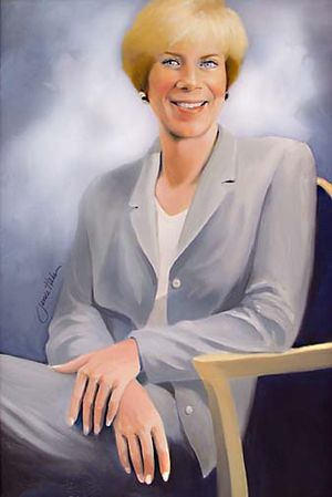 Janice Hahn - Portrait of Hahn by David Fairrington